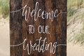 WELCOME TO OUR WEDDING Stock Photos - 75420943