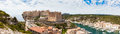 Panoramic View Of Bonifacio Old Town Built On Top Of Cliff Rocks Royalty Free Stock Images - 75421429