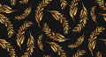 Hand Drawn Vector Seamless Gold Brunch Pattern Stock Image - 75422091