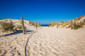 Moving Dunes Park Near Baltic Sea In Leba, Poland Stock Images - 75431904