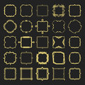 Set Of Different Styles Golden Line Emblems And Frames Design Elements Stock Photo - 75436060