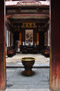 Anhui Province, China Hong Cun Chengzhi Hall Door Landscape Royalty Free Stock Photography - 75472387