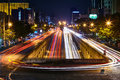 Car Light Trails On Long Exposure Royalty Free Stock Photo - 75479475