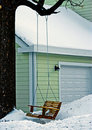 Swing On Tree In Winter Yard Royalty Free Stock Images - 7555069