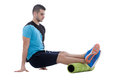 Foam Roller Exercises Stock Images - 75521654