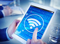 Wifi Wireless Signal Network Connection Technology Concept Royalty Free Stock Image - 75526556