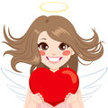 Angel With Heart Royalty Free Stock Photo - 75528585