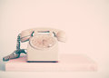 White Telephone Stock Photography - 75536112