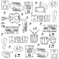 Doodle Of Object Music Theme Stock Image - 75559201