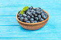 Blueberries In Bowl Stock Photos - 75584893