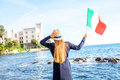 Traveling Near Miramare Castle In Italy Royalty Free Stock Photography - 75589147