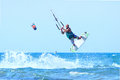 Kitesurfer During A Jump. Royalty Free Stock Images - 75597069