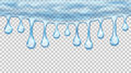 Flowing Or Hanging Transparent Seamless Repeatable Drops Stock Image - 75597971