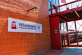 Entrance To Steamtown National Historic Site Main Building Royalty Free Stock Photo - 75601155