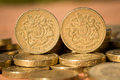 English Pound Coins Stock Images - 75602184
