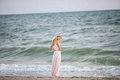 Blonde Girl On The Seashore Royalty Free Stock Photography - 75664417