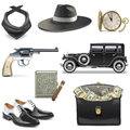 Vector Gangster Icons Royalty Free Stock Photography - 75671287