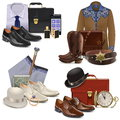 Vector Male Fashion Accessories Set 2 Stock Image - 75671311
