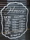 Shop Opening Hours Stock Image - 75675681