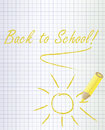 Back To School Background With A Yellow Pencil Stock Image - 75681451