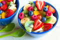 Colorful Fruit Salad In Bowls Stock Photography - 75683832