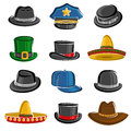 Hats Collection Set. Vector Royalty Free Stock Photos - 75685678