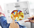 News Feed Broadcast Announcement Events Concept Royalty Free Stock Photo - 75691305