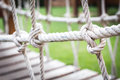 Spiral Rope Bridge For Children To Play. Royalty Free Stock Images - 75692179