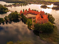 Trakai, Lithuania: Island Castle In The Sunset Stock Images - 75696424