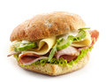 Sandwich With Meat, Cheese And Vegetables Stock Photo - 75696620