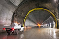 Concrete Road Tunnel Under Construction Royalty Free Stock Photography - 75705837