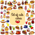 Cakes, Coffee And Tea. Royalty Free Stock Photo - 75726395