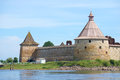 Two Towers Of The Oreshek Fortress. Leningrad Region, Shlisselburg, Russia Stock Photography - 75739622