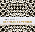 Art Deco Seamless Pattern  Black White And Gold Colours 03 Stock Photo - 75740610