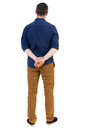 Back View Of Man . Standing Young Guy. Royalty Free Stock Photography - 75747937