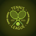 Tennis League Super Series Label Badge For Your Club. Vector Royalty Free Stock Images - 75768669