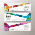 Banners Template With Abstract Colorful Circle Pattern Background Royalty Free Stock Image - 75792266