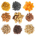 Collection Of Dried Fruits And Nuts Royalty Free Stock Images - 75794549
