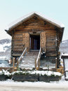 Wood Hut With Snow Royalty Free Stock Images - 7586539