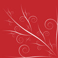 Floral Valentine Red Background Stock Photos - 7589563