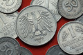 Coins Of Germany. German Eagle Stock Photos - 75820483