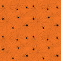 Halloween Spider Web Seamless Pattern. Vector Background. Royalty Free Stock Images - 75834579