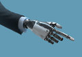 High Detailed Robotic Hand In Business Suit Pointing With Index Finger Royalty Free Stock Photos - 75897578