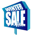 Winter Sale Sign Stock Photos - 7599423
