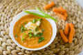 Carrot Cream Soup Stock Image - 75911071