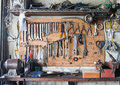Tool Shelf Against A Wall Stock Images - 75932854