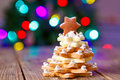 Home Made Baked Christmas Gingerbread Tree As A Gift Royalty Free Stock Photography - 75936037