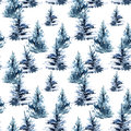 Watercolor Christmas Tree Seamless Pattern. Royalty Free Stock Photo - 75937315