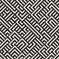 Vector Seamless Black And White Diagonal Maze Lines Geometric Pattern Stock Photography - 75968102