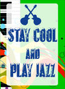 Stay Cool Play Jazz Stock Image - 75968611